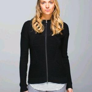 Rare Size 8 Lululemon Embrace Knit Hoodie Black